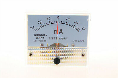 0-30ma Analog Current Panel 85c1 Amp Ammeter Gauge Meter 2.5 Accuracy