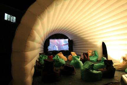 Outdoor Cinema Igloo with inbuilt screen - great party hire Helensvale Gold Coast North Preview
