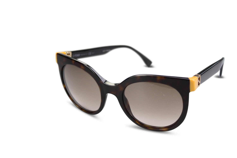 FENDI Sonnenbrille Damen Cateye Runde Sunglasses FF 0129/S TRDJ6 Dark Havana