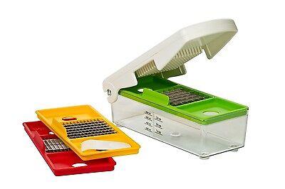 Food Chopper Press Cutter Onion Potato Fruits Vegetables Slicer Gadget Set NEW