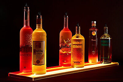 Armana Acrylic Double 9 Wide 36 Liquor Shelves Bottle Led Lighted Shelf