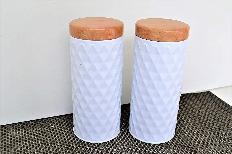2 er Set Vorratsdosen Aufbewahrungsdose Kaffeedose Teedose Gebäckdose Kaffeepad