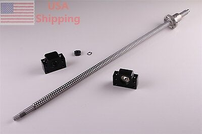 1x Ballscrew 1605-1000mm-c7 With 1set Bk12 Bf12 End Support For Cnc