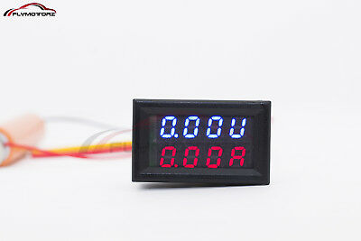 Mini Dc 150v 10a Digital Voltmeter Ammeter Blue Red Led Volt Amp Meter Gauge Us
