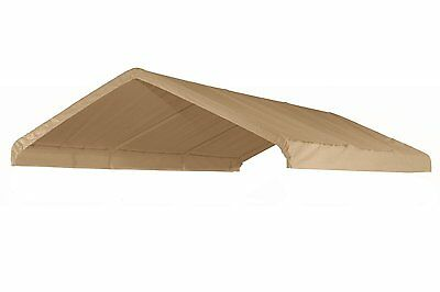 Heavy Duty Valance Replacement Canopy Tarp Carport Cover for 10 X 20 Frame- Tan
