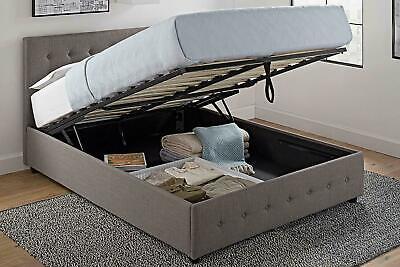 Queen Size Upholstered Platform Bed Frame Storage Tufted Hea