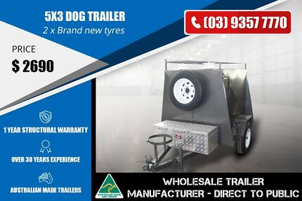 Custom build Dog Trailer with Ladder Rack - 5x3 Epping Whittlesea Area Preview