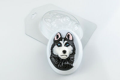 """Husky"" dog plastic soap mold soap making mold mould"