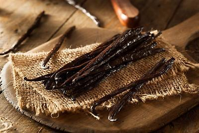 10 Madagascar Bourbon Vanilla Beans Grade A, Whole Beans for Baking and Extract