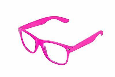 Retro-Farbe Unisex Punk-Geek Wayfare Stil Clear Lens Brille Brillen