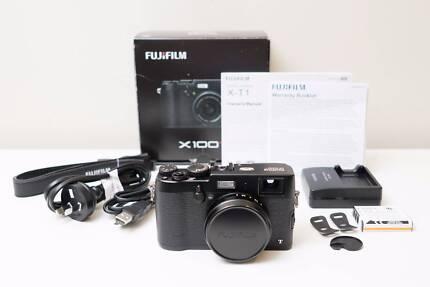 Fujifilm Fuji X100T Black Camera ~Excel Cond Low Shutter Count