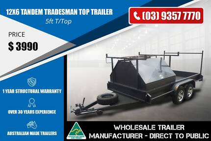 Tandem Tradesman Top Trailer - 12x6 - Full Ladder Rack Epping Whittlesea Area Preview