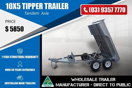 10x5 Tandem Tipper Trailer - GVM 2000kg Epping Whittlesea Area Preview