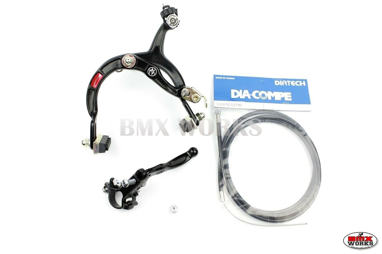 Genuine Dia-Compe MX1000 MX121 Front Brake Kit Dark Blue Old School BMX