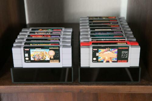 Super Nintendo SNES Cartridge Storage Retro Video Game Tray Case Acrylic 16BITSN