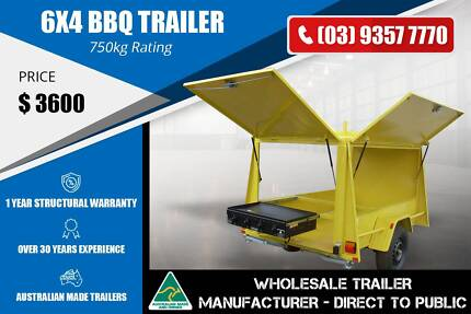 BBQ Trailer - Checker Plate Floor - 6x4 Epping Whittlesea Area Preview