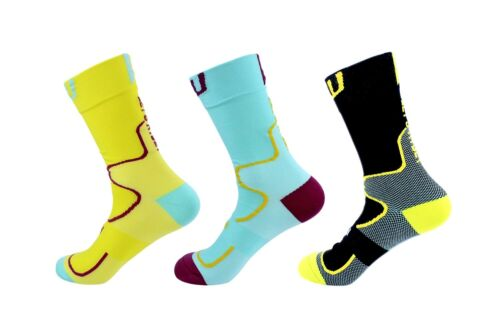 Swish Race Bicycle Sports Socks also for Running//Hiking//Jogging//Yoga use Black M