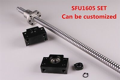 Ball Screw Sfu1605 L250mm-1050mm Lead Rod Machined Bf12 Bk12 End Support Cnc