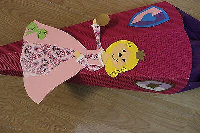 Schultüte Zuckertüte Einschulung Handarbeit 70 cm Prinzessin Froschkönig rosa