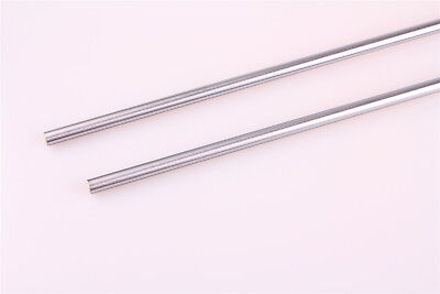 2x Od 20mm Cylinder Liner Rail Linear Optical Axis Steel Shaft Rod 200-500mm