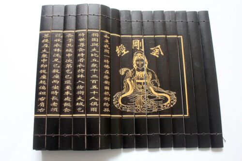 """Chinese Classical  Scroll Slips famous Book of """" Diamond Sutra"""" 80X20CM"""