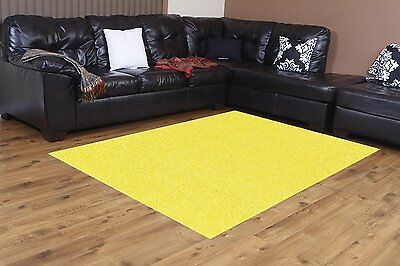 Bright House Solid Color Yellow Area Rug