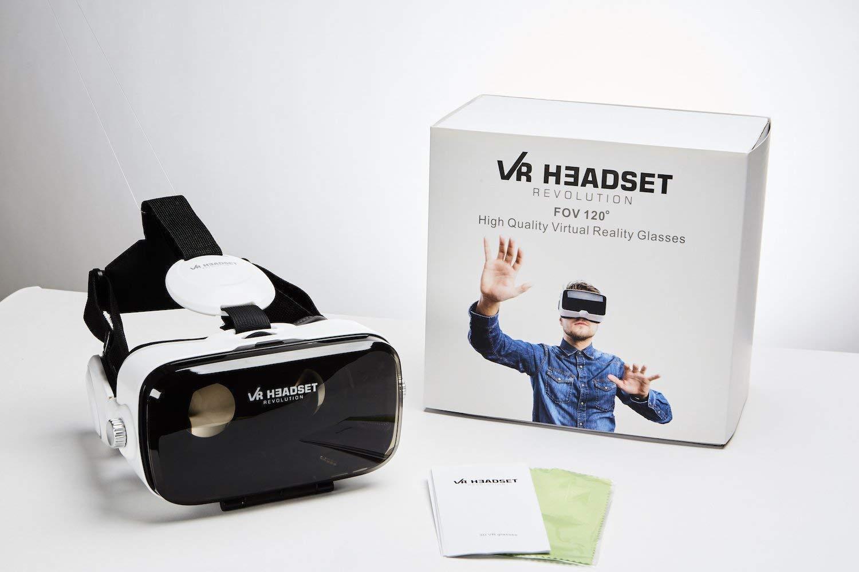 vr headset 3d glasses headphones virtual reality