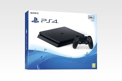 PS4 Slim New Look 500gb Black Console - Brand New & Sealed