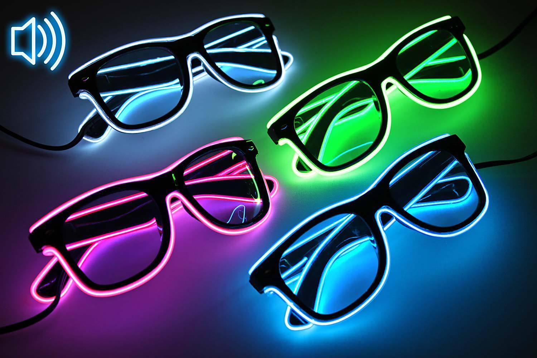 Party LED-Brille leuchbrille festival musik leuchtet günstig kaufen blinkbrille