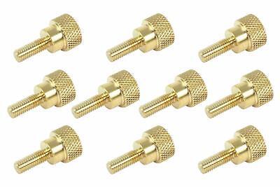 10 Pack 10-32 X 12 Threads Solid Brass Diamond Knurled Thumb Screws Sae