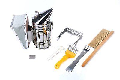 6pcsset Beekeeping Tool Kit Stainless Steel Smoker Bee Hive Tools Bee Brush