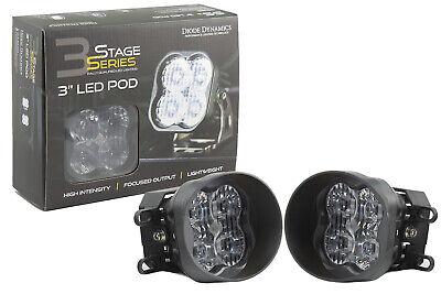 SS3 LED SAE/DOT Type B Fog Light Kit Sport Fog Optic White Diode Dynamics