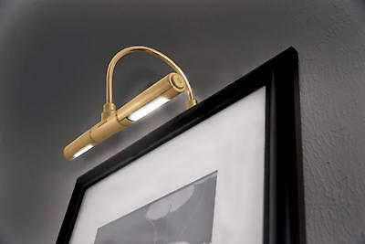 LED Picture Frame Light Battery Operated Gold Wall Lamp Cordless Lighting Art