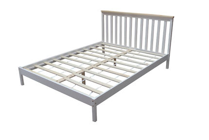Brand New White Single/Double/Queen Pine Wood Bed Frame