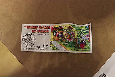 BPZ Beipackzettel Ü-Ei Die Happy Hippo Hochzeit Puzzle Überraschungsei gebraucht kaufen  Böhlen