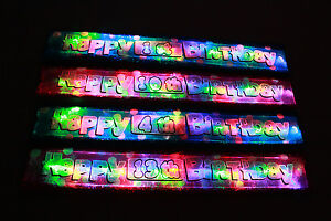 New personalised age Flashing Happy Birthday banners