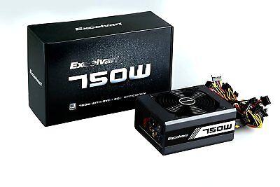 ATX 750W Computer Power Supply PSU (Desktop PC Gaming Bitcoin Mining Nvidia AMD)