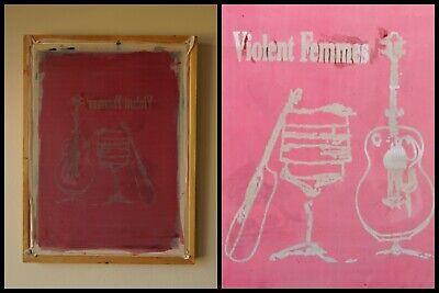 Violent Femmes Logo Silk Screen Printing Frame Speedball Tshirtpunkvintage