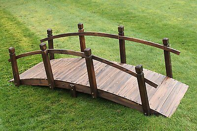 Wooden Garden Bridge 2M Wide