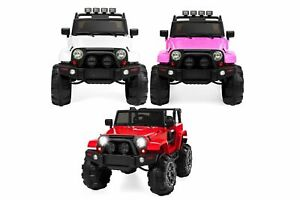 Big Rubber Wheels 4x4 Ride on Trucks with Remote, Leather Seat,