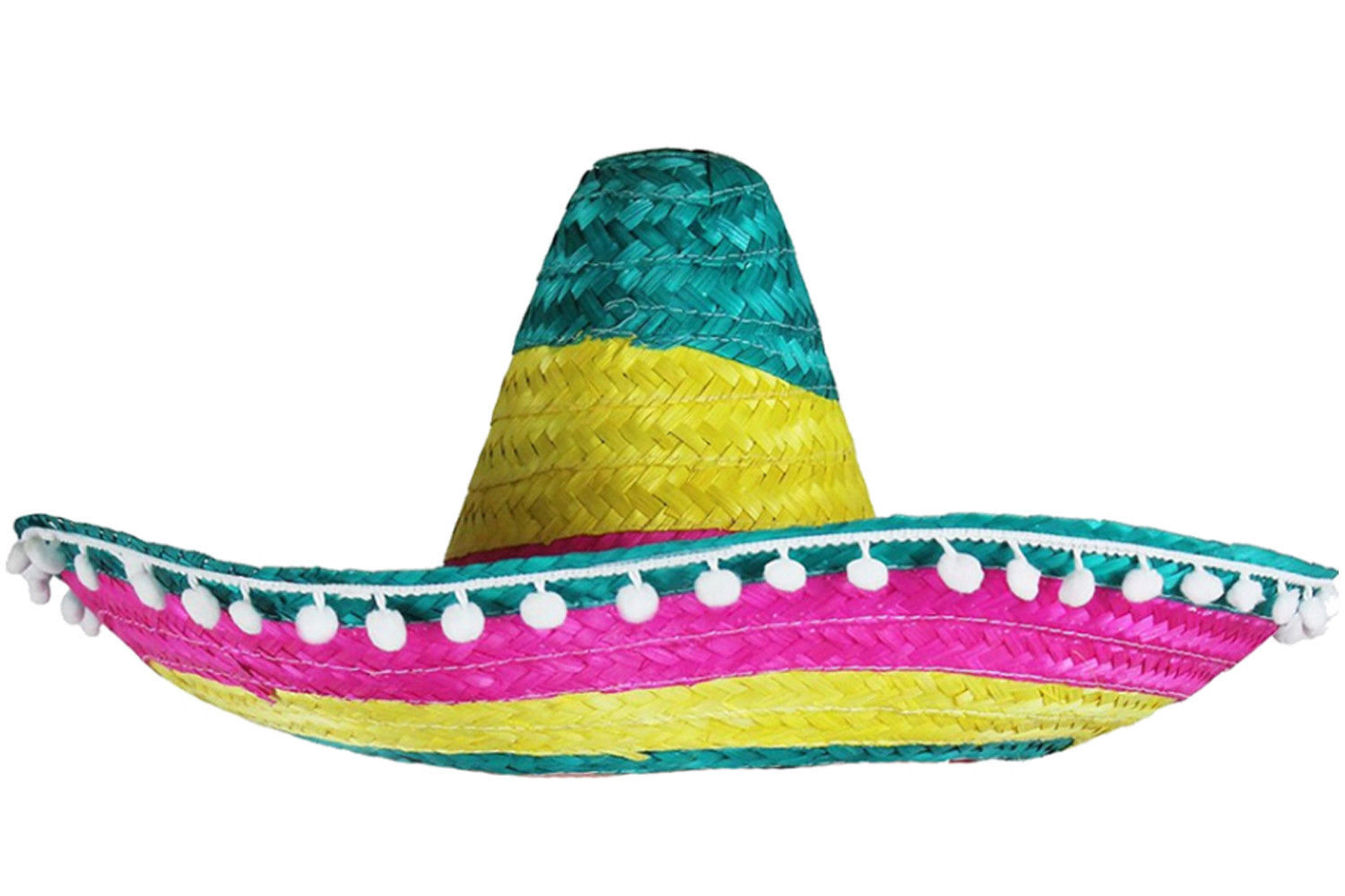 35700656c71 Details about MULTI COLOURED MEXICAN SOMBRERO HAT WILD WESTERN FANCY DRESS  COSTUME ACCESSORY