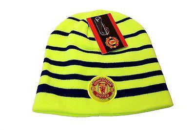 Manchester United Beanie - Manchester United Beanie Skull Cap Hat New Season Neon Green