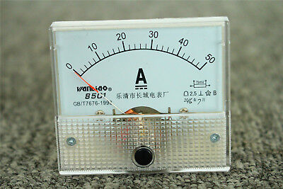 New 85c1 Dc 1-50a Panel Mounted Class 2.5 Precision Analog Ammeter Meter