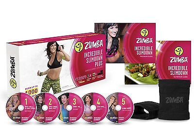 Zumba Fitness Incredible Slimdown DVD System, New, Free Shipping