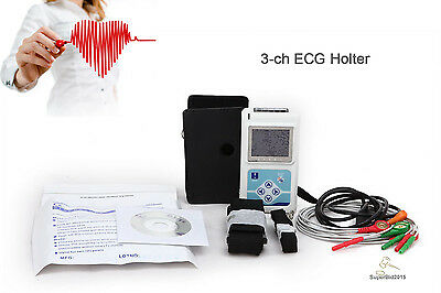 Contec Dynamic Ecg Ekg System 24 Hours Holter Usb Pc Software 3-ch5-leads