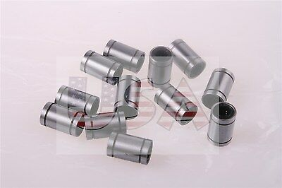 12pcs Lm8uu Linear Ball Bearing Bush Bushing For 8mm Rod 3d Printer