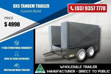 8x5 Tandem Custom Build Trailer - Ramp Door At The Back Epping Whittlesea Area Preview