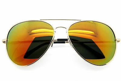 Polarized Retro Aviator Sunglasses Men Women Mirrored Lens Vintage Fashion Frame