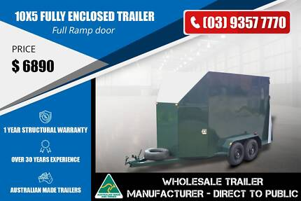 10x5 Fully Enclosed Trailer - Full Ramp Door Epping Whittlesea Area Preview