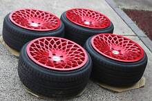 18x9.5 +40 Watercooled Ind MT10 wheels - 5x112 Merc VW Audi RED! Bayswater Knox Area Preview